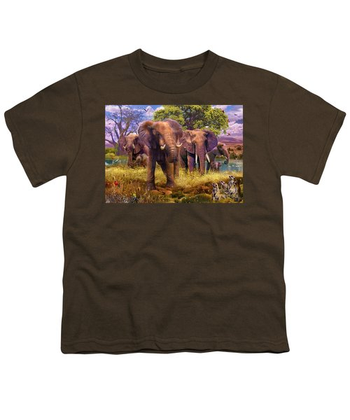 Elephants Youth T-Shirt by Jan Patrik Krasny