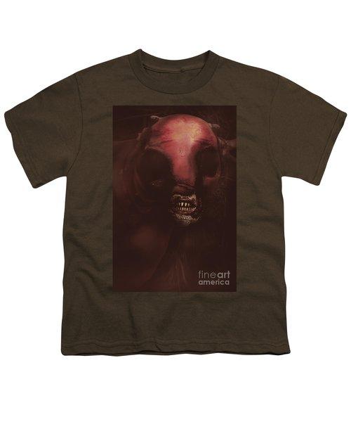 Evil Greek Mythology Minotaur Youth T-Shirt by Jorgo Photography - Wall Art Gallery