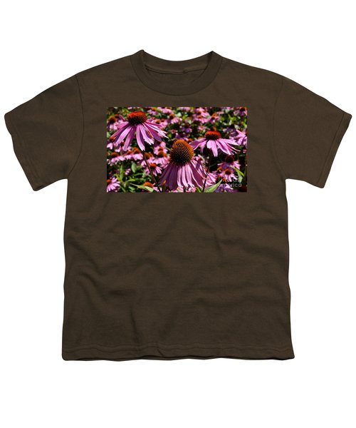 Field Of Echinaceas Youth T-Shirt