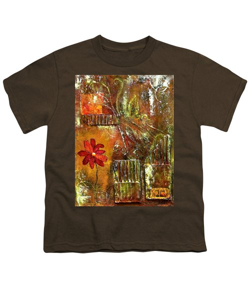Flowers Grow Anywhere Youth T-Shirt by Bellesouth Studio