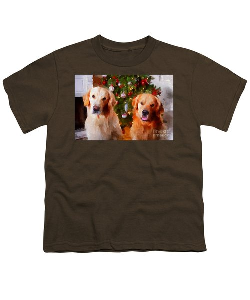 Golden Christmas Youth T-Shirt