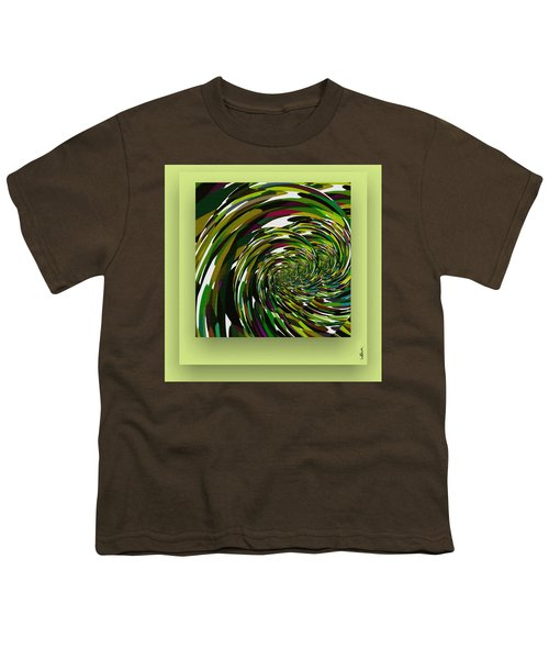 Youth T-Shirt featuring the digital art Green Color Storm by Mihaela Stancu