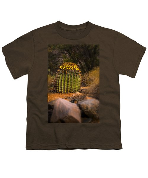 Youth T-Shirt featuring the photograph Into The Prickly Barrel by Mark Myhaver