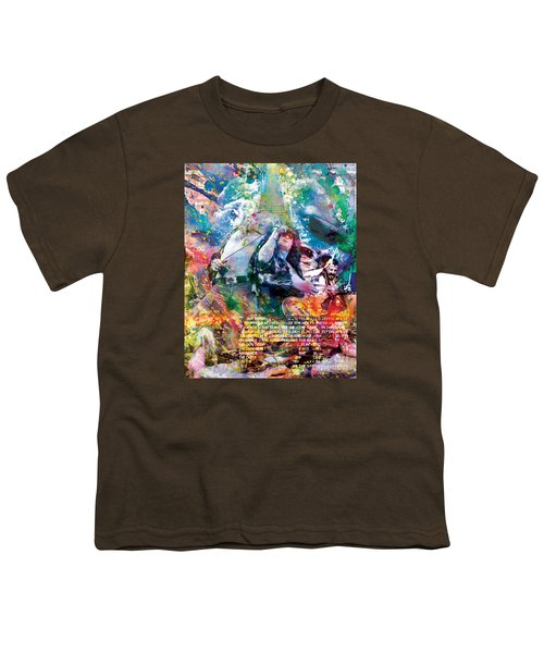 Led Zeppelin Original Painting Print  Youth T-Shirt by Ryan Rock Artist
