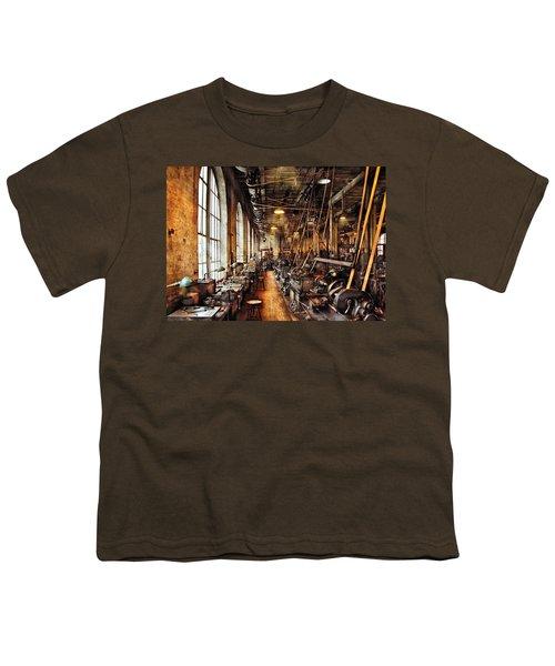 Machinist - Machine Shop Circa 1900's Youth T-Shirt
