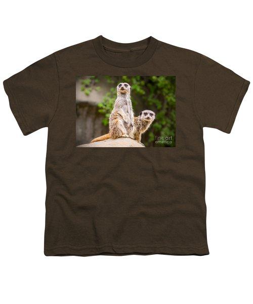 Meerkat Pair Youth T-Shirt by Jamie Pham
