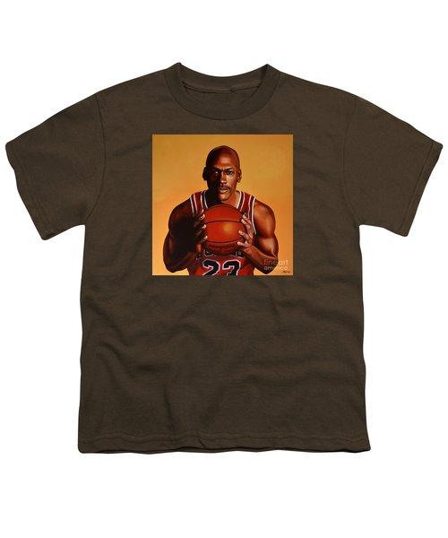 Michael Jordan 2 Youth T-Shirt by Paul Meijering