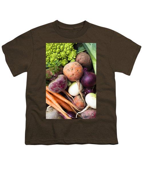 Mixed Veg Youth T-Shirt by Anne Gilbert