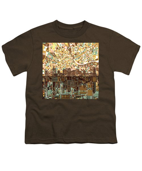 Nashville Skyline Abstract 4 Youth T-Shirt