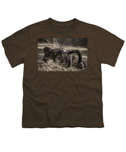 Old Tractor Youth T-Shirt by Lynn Geoffroy