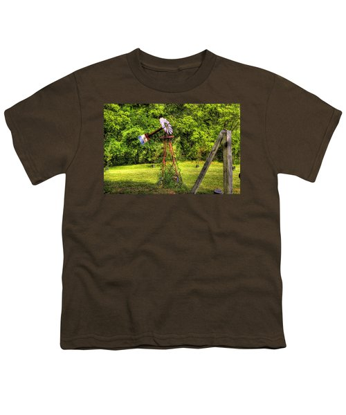 Youth T-Shirt featuring the photograph Old Windmill by Jonny D