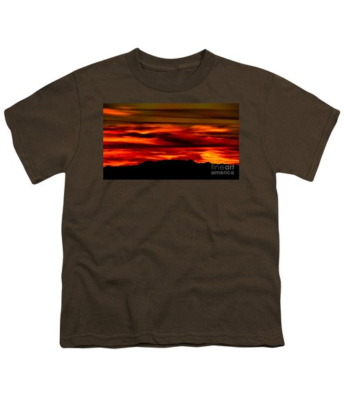 Youth T-Shirt featuring the photograph Painted Sky 34 by Mark Myhaver