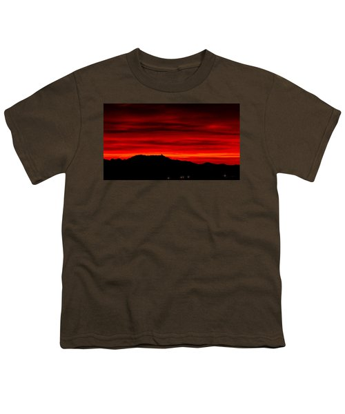 Youth T-Shirt featuring the photograph Painted Sky 36 by Mark Myhaver