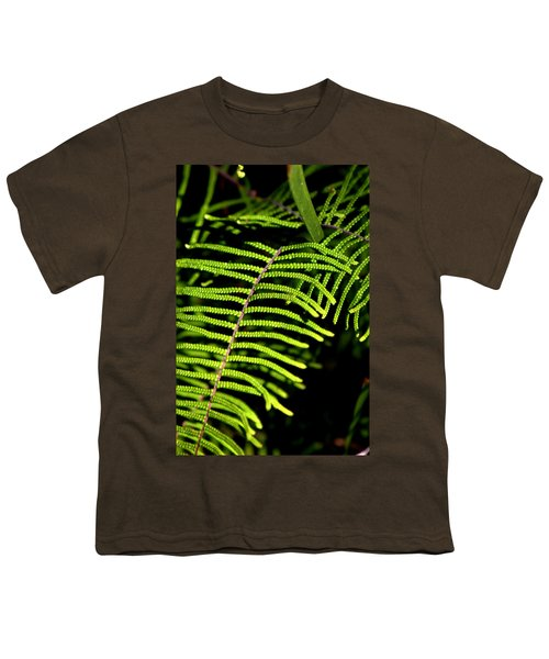 Youth T-Shirt featuring the photograph Pauched Coral Fern by Miroslava Jurcik