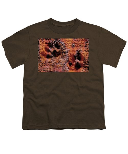 Paw Prints Rust Over Time Youth T-Shirt