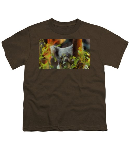 Shy Koala Youth T-Shirt by Dan Sproul