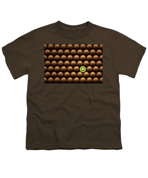 Sliced Kiwi Between Group Youth T-Shirt by Johan Swanepoel