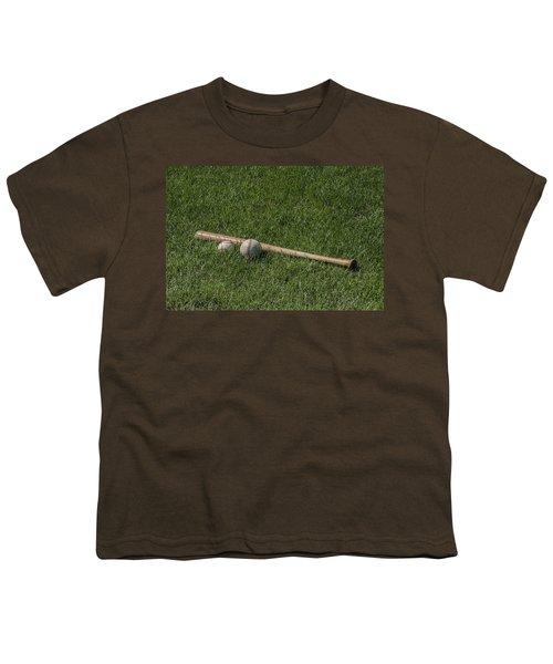 Softball Baseball And Bat Youth T-Shirt