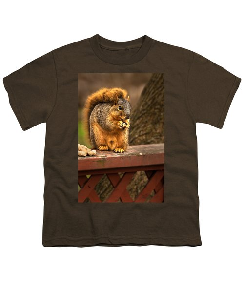 Squirrel Eating A Peanut Youth T-Shirt