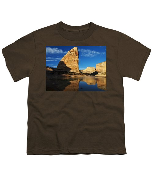 Steamboat Rock In Dinosaur National Monument Youth T-Shirt
