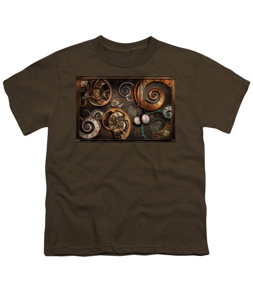 Steampunk - Abstract - Time Is Complicated Youth T-Shirt
