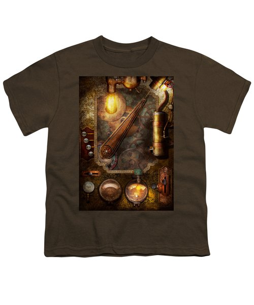 Steampunk - Victorian Fuse Box Youth T-Shirt