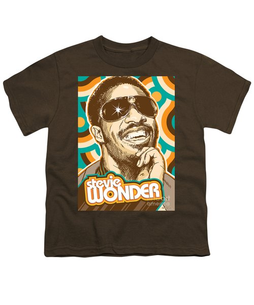 Stevie Wonder Pop Art Youth T-Shirt