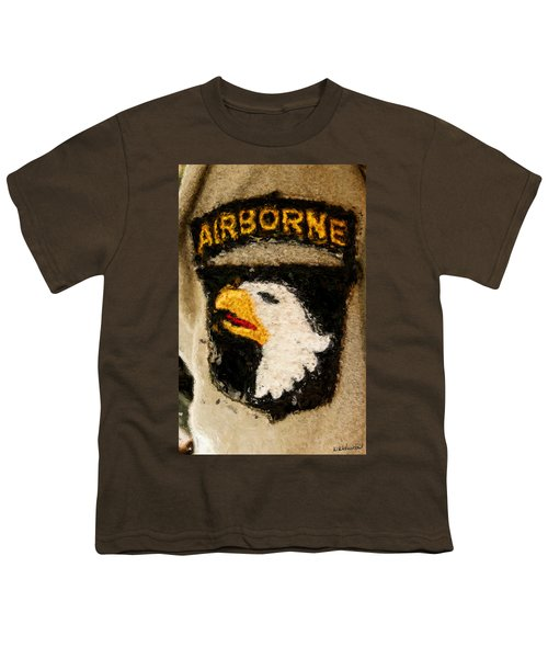 The 101st Airborne Emblem Painting Youth T-Shirt