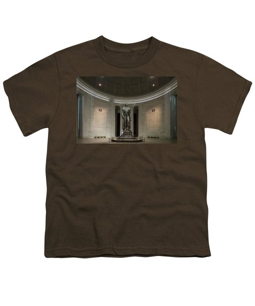 Youth T-Shirt featuring the photograph Thomas Jefferson Memorial At Night by Sebastian Musial