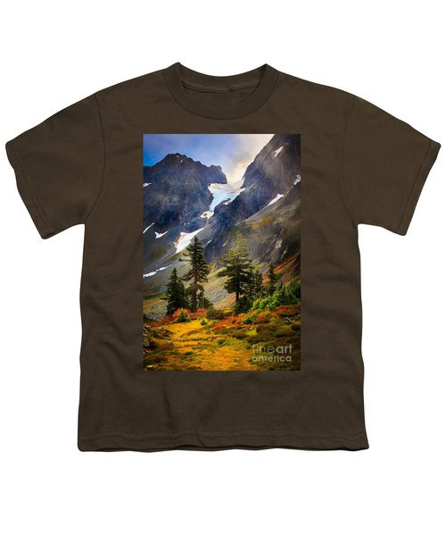 Top Of Cascade Pass Youth T-Shirt by Inge Johnsson