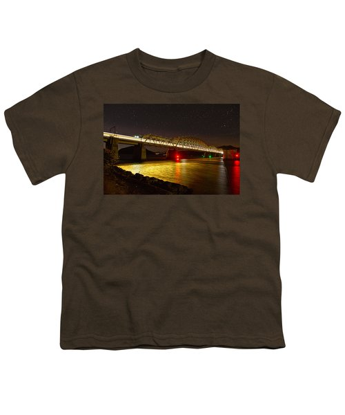 Train Lights In The Night Youth T-Shirt