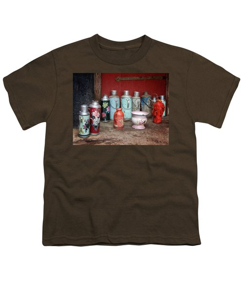 Yak Butter Thermoses Youth T-Shirt