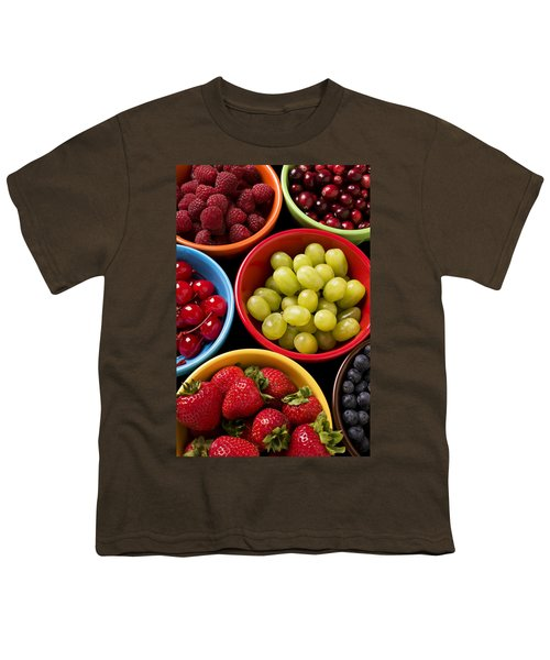 Bowls Of Fruit Youth T-Shirt by Garry Gay
