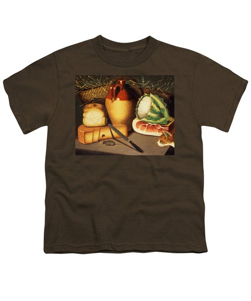 Cat Mouse Bacon And Cheese Youth T-Shirt