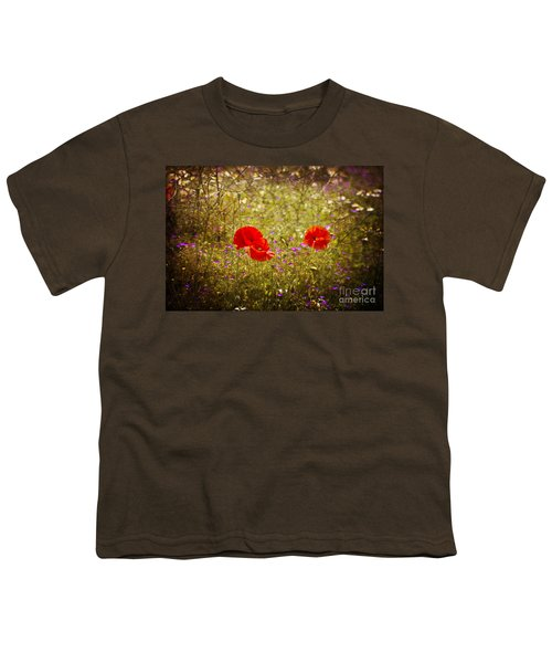 Youth T-Shirt featuring the photograph English Summer Meadow. by Clare Bambers - Bambers Images