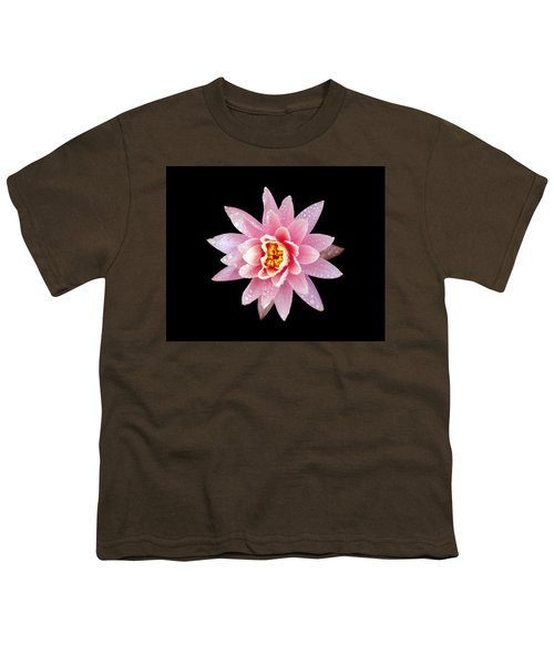 Lily On Black Youth T-Shirt by Bill Barber