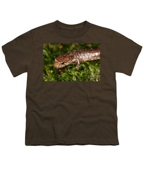 Red-backed Salamander Youth T-Shirt by Ted Kinsman