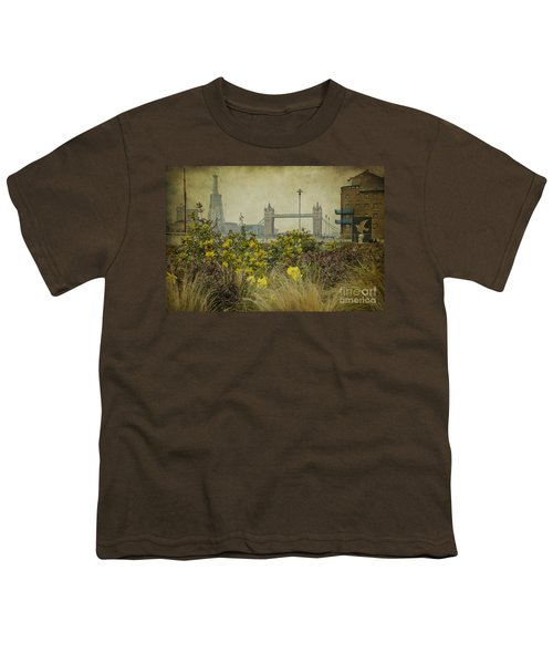 Youth T-Shirt featuring the photograph Tower Bridge In Springtime. by Clare Bambers