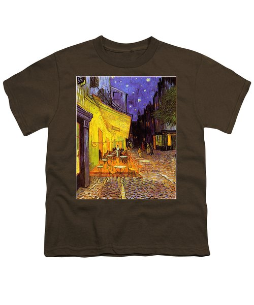Youth T-Shirt featuring the painting Cafe Terrace At Night by Van Gogh
