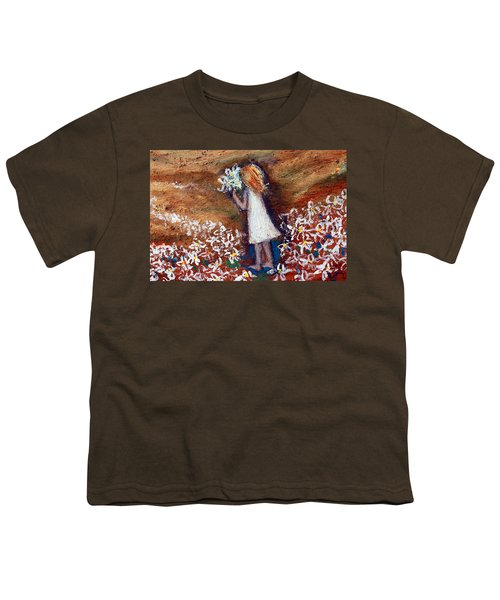 Field Of Flowers Youth T-Shirt by Winsome Gunning