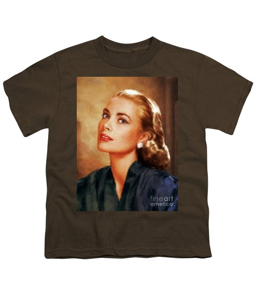 Grace Kelly, Actress And Princess Youth T-Shirt by Mary Bassett