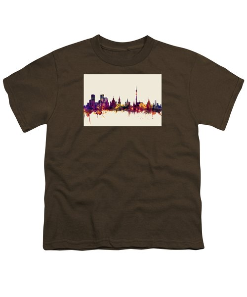 Moscow Russia Skyline Youth T-Shirt