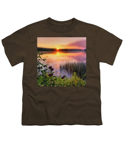 Youth T-Shirt featuring the photograph Summer Sunrise Square by Bill Wakeley