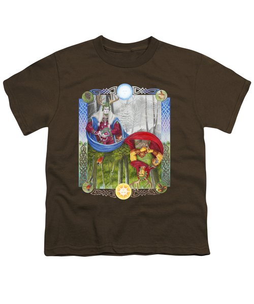 The Holly King And The Oak King Youth T-Shirt by Melissa A Benson