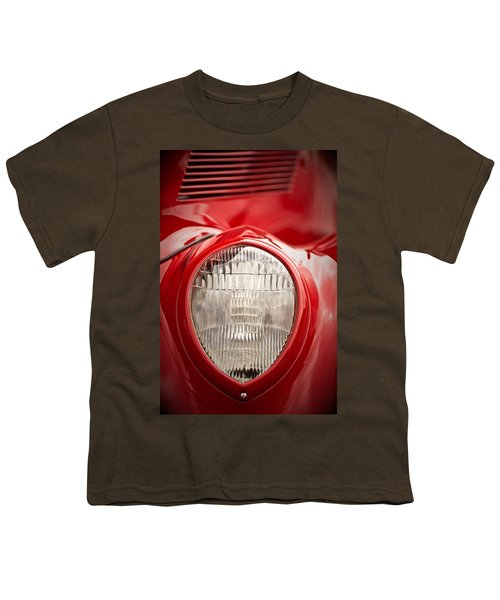 1937 Ford Headlight Detail Youth T-Shirt