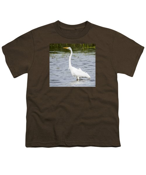 Youth T-Shirt featuring the photograph The Great White Egret by Ricky L Jones