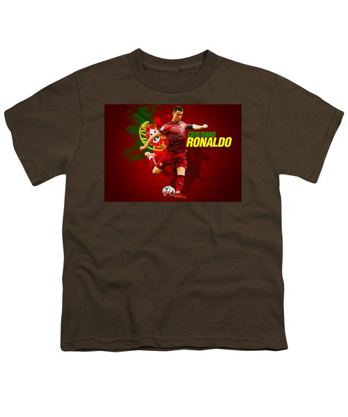 Cristiano Ronaldo Youth T-Shirt by Semih Yurdabak