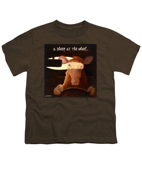 A Sheep At The Wheel... Youth T-Shirt