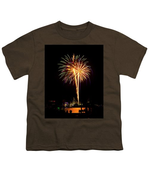 4th Of July Fireworks Youth T-Shirt by Bill Barber