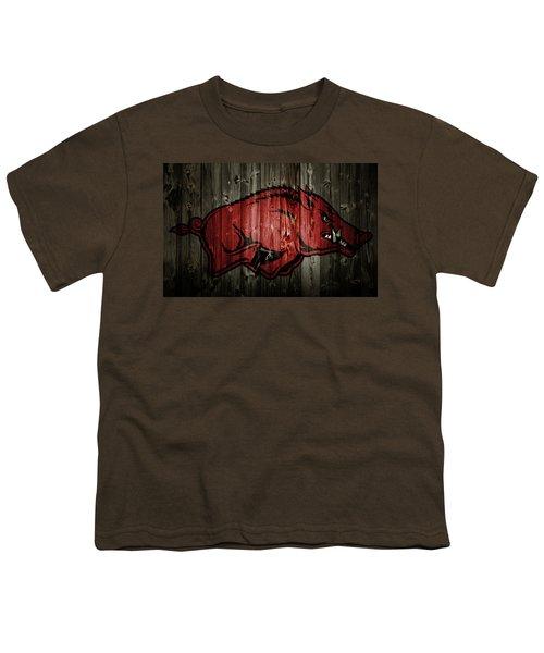 Arkansas Razorbacks 2b Youth T-Shirt by Brian Reaves